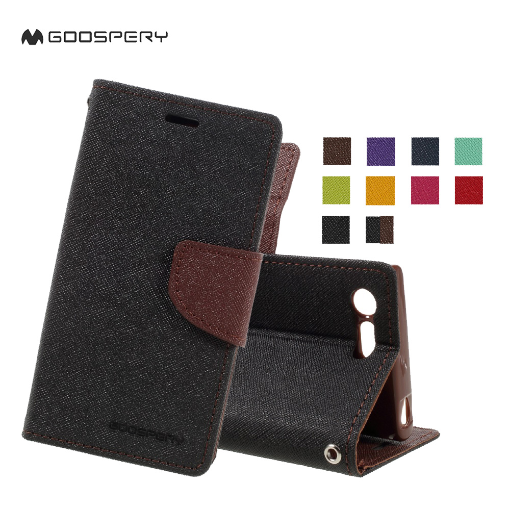Goospery For Sony Xperia X Xa Xz Fancy Diary Leather Case Stand Iphone 6 Plus 6s Brown Black Compact Performance Wallet Cover In Cases From Cellphones