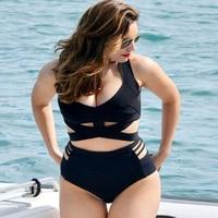 XL XXXL Big Size Bikini High Waist Swimsuit Swimwear Women Beachwear Swim Suit Brazilian Bikini Push