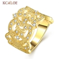 2016 New Style Classical Wide Women Party Rings 24k Gold Plated Full Cz Bulgaria Jewelry Anel Feminino Luxury Ladies Ring