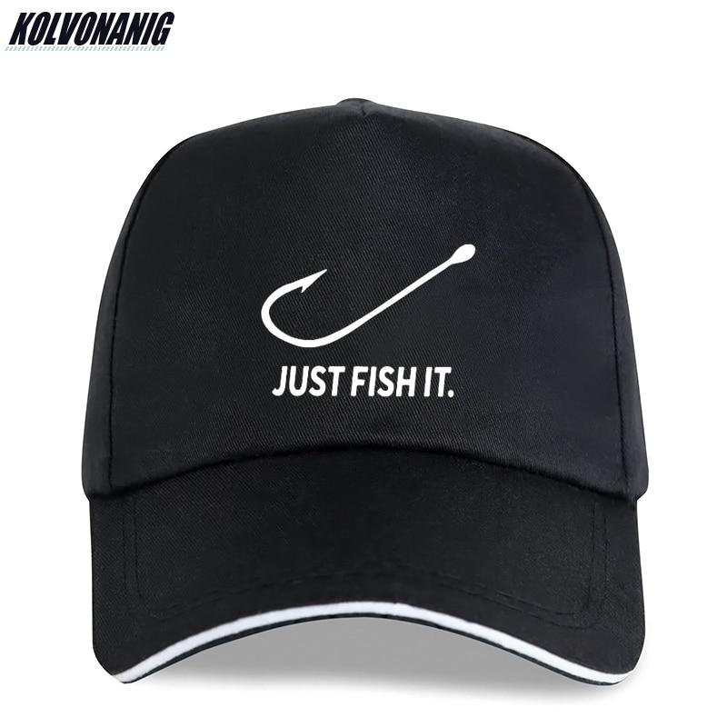 Fishing Just Fish It Funny Print   Baseball     Caps   for Men's Fisher Fishermen Cotton Adjustable Snapback Unisex Sun-hats Trucker   Cap