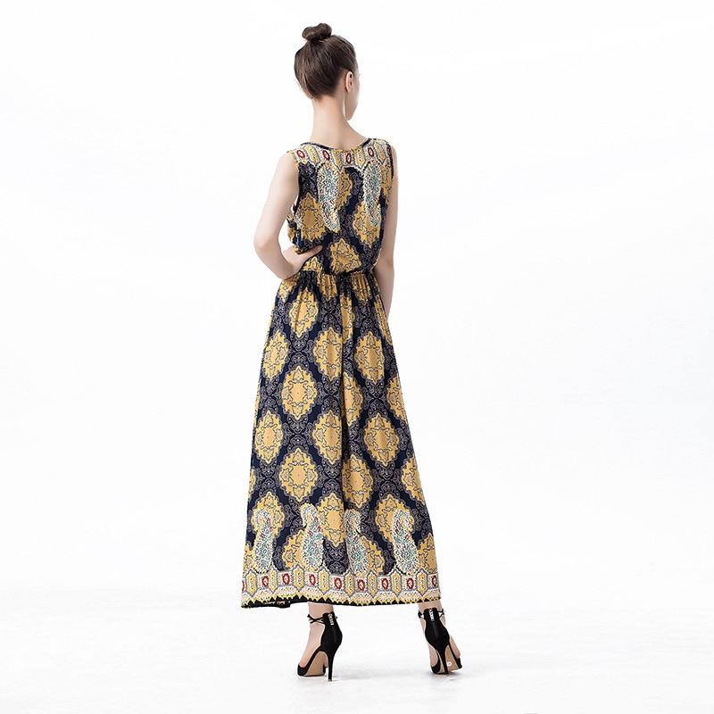 Summer New 19th Century Dress Cashew Nuts Floral V Neck Sleeveless Long  Dress Vintage Big Wing Shift Dresses Retro Vestido Longo-in Dresses from  Women s ... a9393cb86040