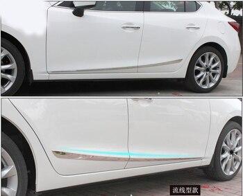 اكسسوارات صالح ل M3 AXELA 2014 2015 2016 الكروم الباب الجانب خط بطانة مقبلات الجسم صب تريم غطاء حماية شرائط
