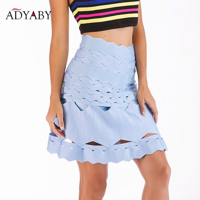 1a003339be182b Acheter Une ligne bleu jupes femmes mode 2019 Sexy taille haute ...