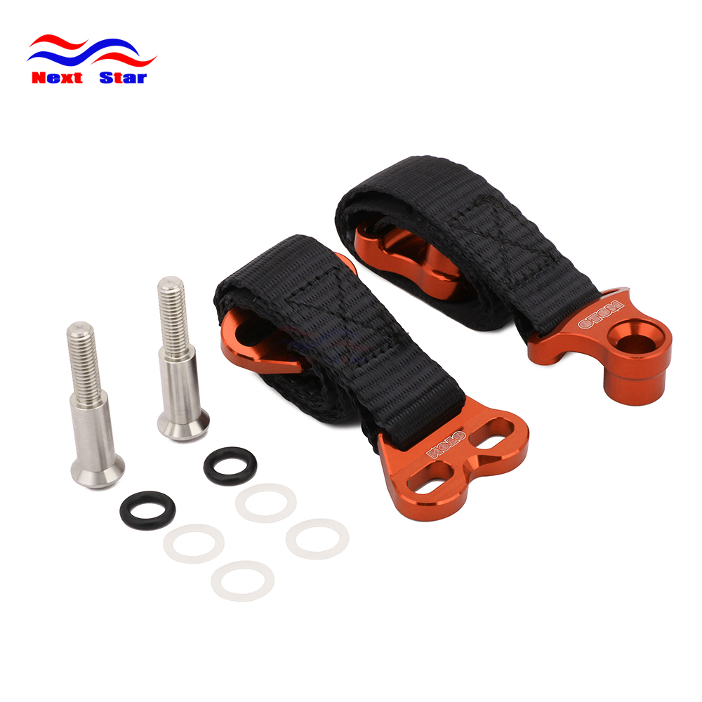 Motorcycle Orange Front&Rear Rescue Bundle Tie Lead Band For HONDA KAWASAKI YAMAHA CR CRF XR YZ YZF WR WRF KX KXF KLX Dirt Bike