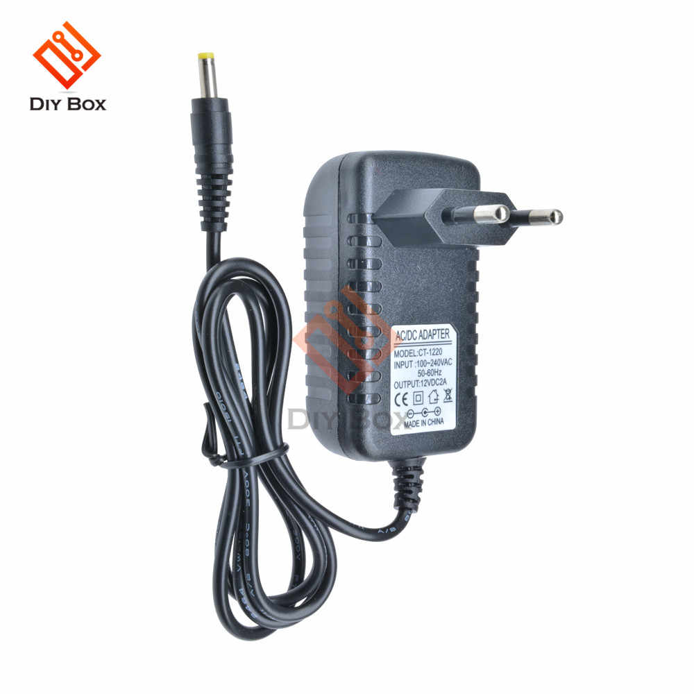EU Plug Power Adapter Versorgung Konverter AC 100-240V zu DC 12V 2A LED Licht 50- 60Hz CT-1220