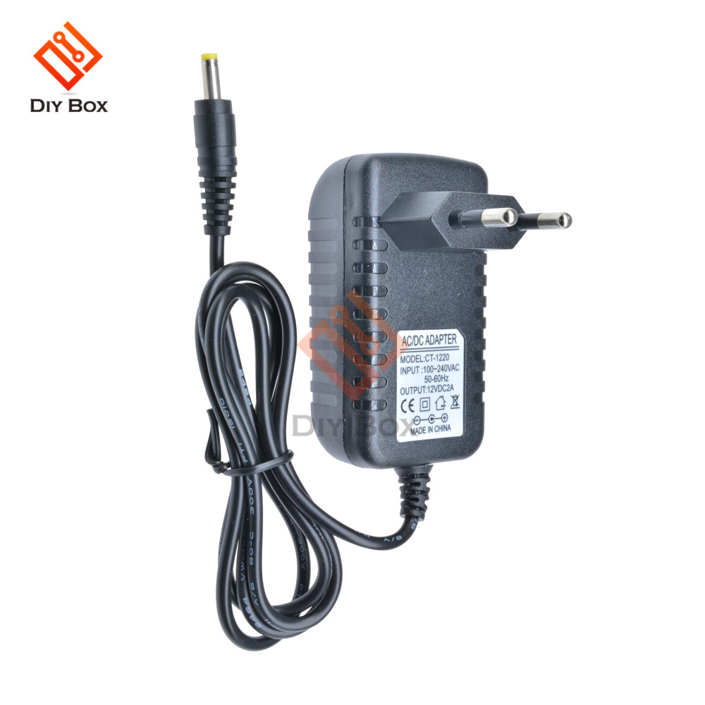 EU Plug Power <font><b>Adapter</b></font> Supply Converter <font><b>AC</b></font> 100-240V to DC <font><b>12V</b></font> 2A LED Light 50-60Hz CT-1220 image
