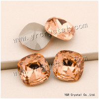 YANRUO #4470 8 10 12 18mm Lt. Peach Bellezza Cushion Diamond Cut Fancy Strass Pietre Di Cristallo Pointback