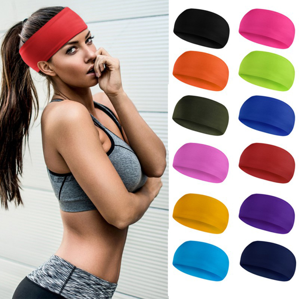 @1  Lyca Absorbent езда на велосипеде Yoga Спорт Пот Повязка на голову Мужчины Sweatband Мужчины и Женщи ①