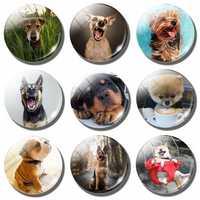 Reizende Nette Hund 30MM Magnetischen Kühlschrank Aufkleber Lustige Hund Pet Liebhaber Geschenk Glas Cabochon Hinweis Halter Kühlschrank Magnet Home decor
