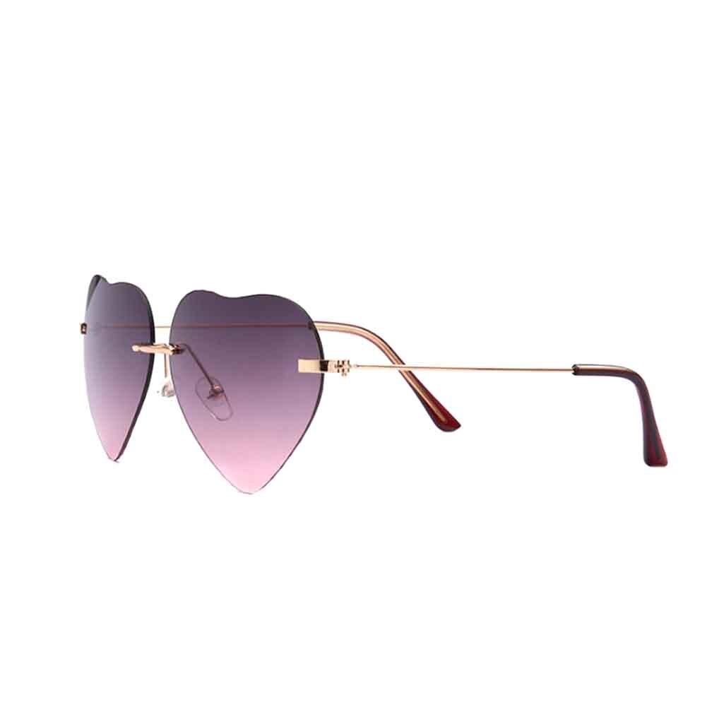 Women's Glasses Photochromic Rainbow Coating Sunglass Girls Womens Beach Colorful Summer Sunglasses Peach Love Heart Shaped Sun Glasses