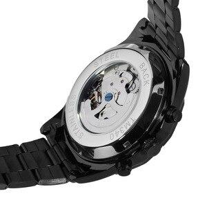 Image 4 - Reloj de pulsera de acero inoxidable automático de gran oferta de moda para hombre, reloj de pulsera Casual Color negro fsd8042m4b1