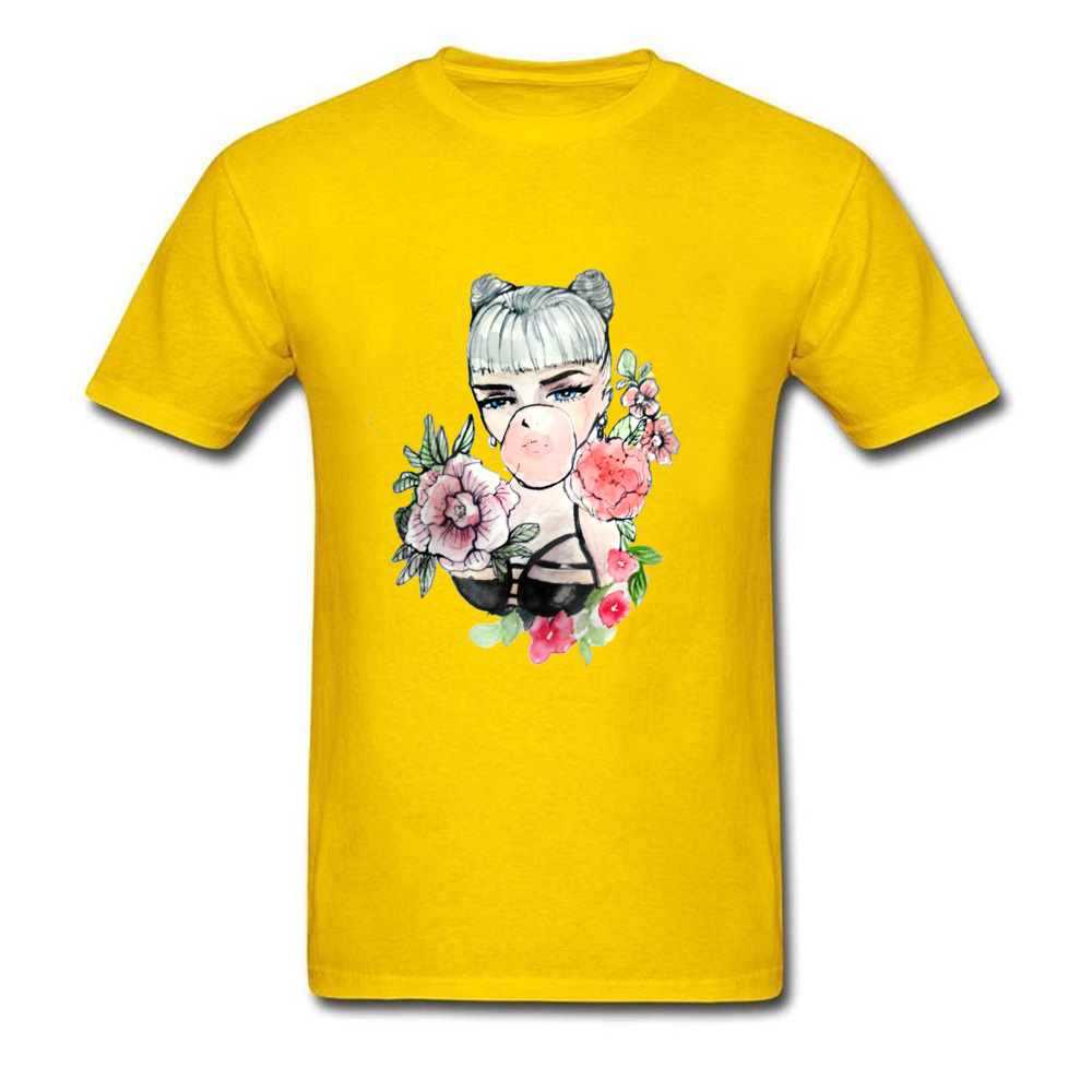 Patterns Tshirt Men Cool Design Bubble Gum Sex Girl T Shirt For Adult Pin Up T-Shirts 100% Cotton Crew Neck Tee Shirts
