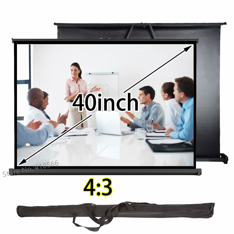 №Duradero precio barato mini pantalla de proyección 40 pulgadas 4:3 ...