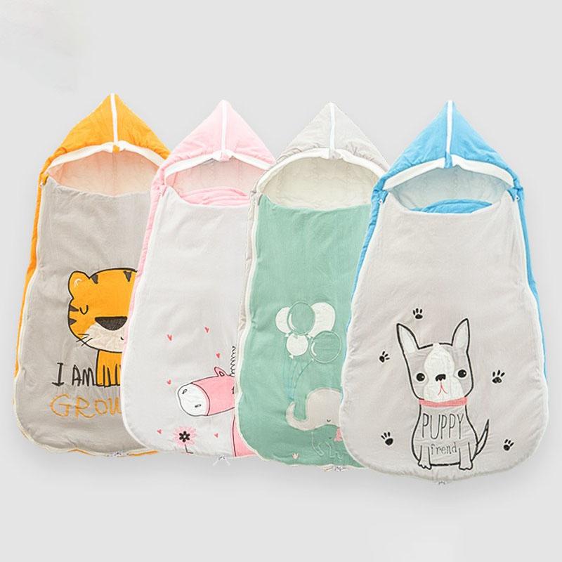 Newborn Cocoon Baby Cocoon Envelopes For Newborns Baby Sleeping Bag Cartoon Embroidered Diaper Cocoon Spring Baby