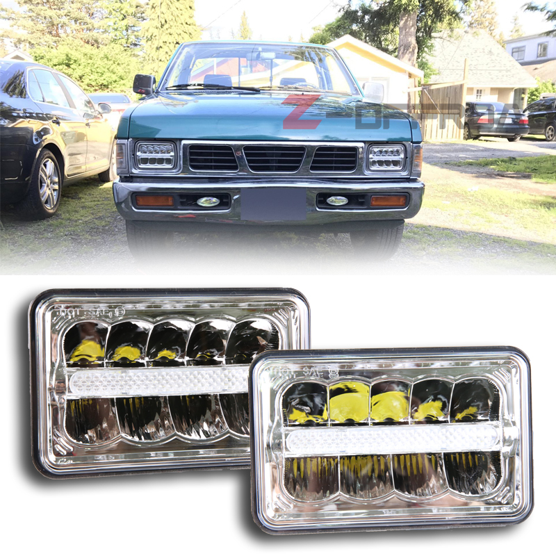 For Off-Road Vehicles square Multi Beam 4x6 LED sealed beam truck headlight replacment front lamp with DRL Center strip for GMC s1000rr turn led lights