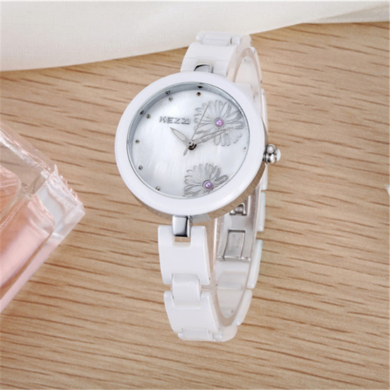 New Arrival K1187 100% Ceramic BrandKEZZI Ladies Wristwatch Crystal Stone Ceramic Watch Women free shipping new arrival 100