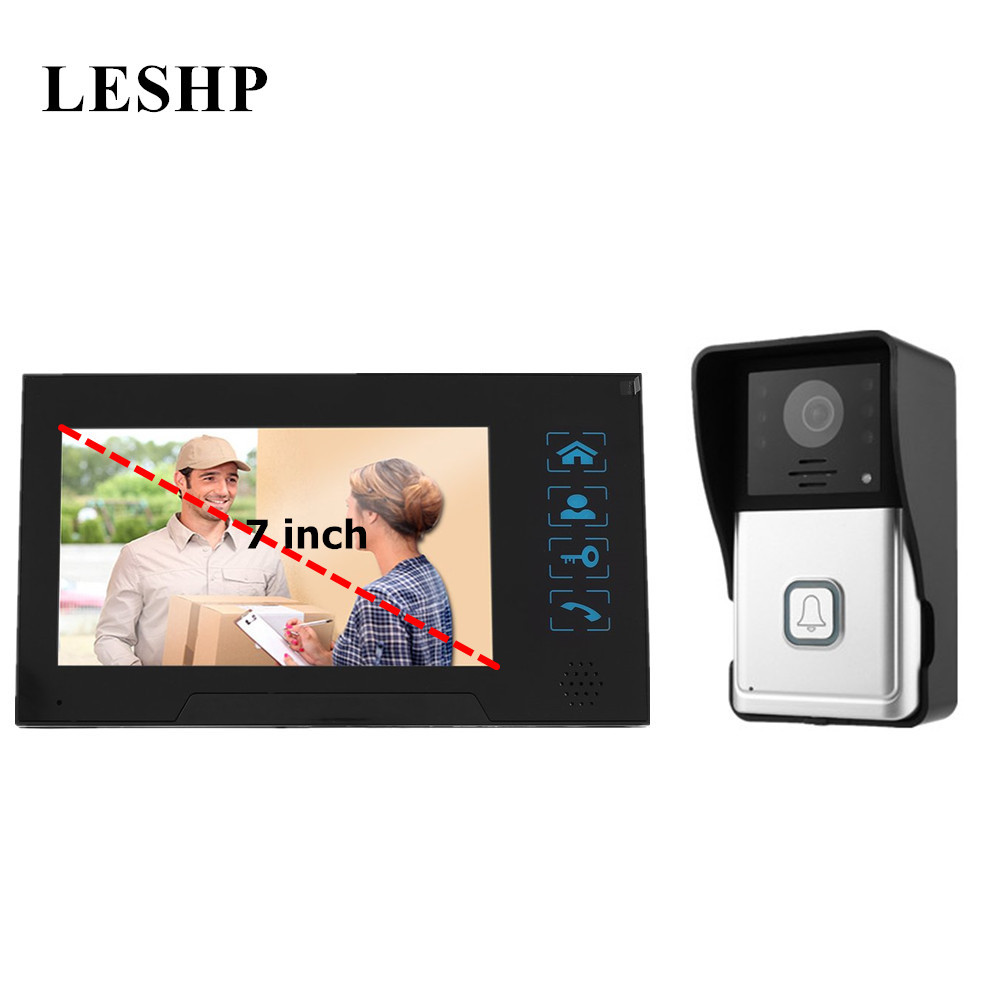 Video Door Phone System 7 Inch Color TFT Visual Intercom Doorbell Indoor Monitor Outdoor Infrared Camera Video Intercom yobang security freeship video door phone system visual intercom doorbell 7 tft color lcd one monitor outdoor infrared camera