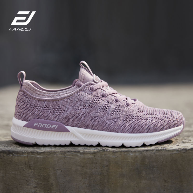 FANDEI 2019 chaussures de course pour femmes chaussures de Sport femme baskets légères femmes Zapatillas Mujer Flyknit maille chaussures à lacets été marche