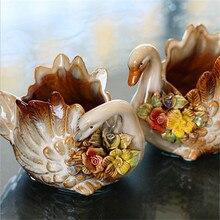 1 пара Новинка ZAKKA керамика Лебедь подсвечник/подсвечники/Подарки для девочек/керамическая коробка для хранения/украшение дома