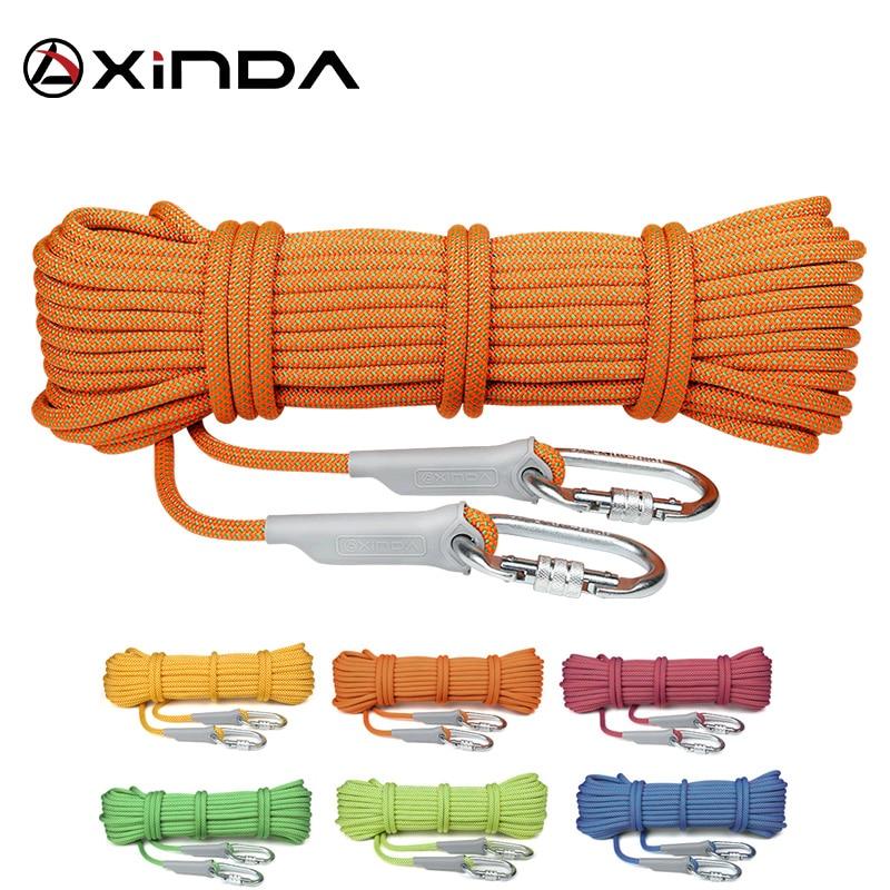 XINDA  10m Professional Rock Climbing Rope 10.5mm Diameter 5500lbs High Strength Downhill Survival Safety Climbing