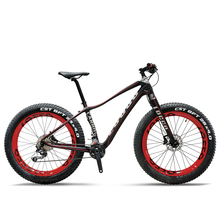 26inch Fat bike carbon fiber mountian bicycle Carbon fiber fork Lightweight Snow Mountain Bike 20 speed deore carbon fiber bike