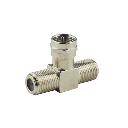5X F Plug male to 2x Jack female T Type 3 Way RF Coaxial Adapter Connector 1pcs 5 5 x 2 1mm jack male to 5 5mm x 2