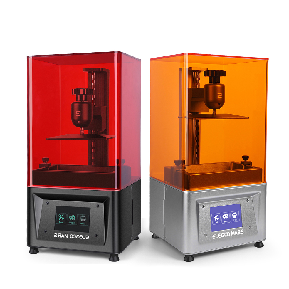 ELEGOO Mars UV Photocuring LCD 3D Printer with 3.5'' Smart Touch Color Screen Off-line Print 4.72(L) x 2.68(W) x 6.1(H)