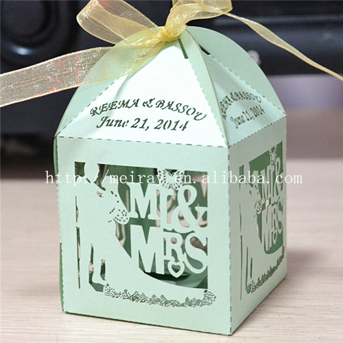 100pcs Lot Bride And Groom Mint Green Wedding Gifts Bo For