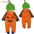 2PCS/0-18Months/Halloween Style Unisex Baby Clothes Newborn Boys Girls Rompers Fleece Jumpsuits+Hats Infant Clothing Sets BC1361