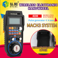 NC studio engraving machine MACH3 system WHB04B wireless electronic hand wheel 4 axis/6 axis handheld unit MPG remote control
