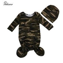 pudcoco Новые поступления, популярный малыш новорожденный младенец, для маленьких мальчиков и девочек, повседневное камуфляжное Пеленальное Одеяло, пеленка для сна