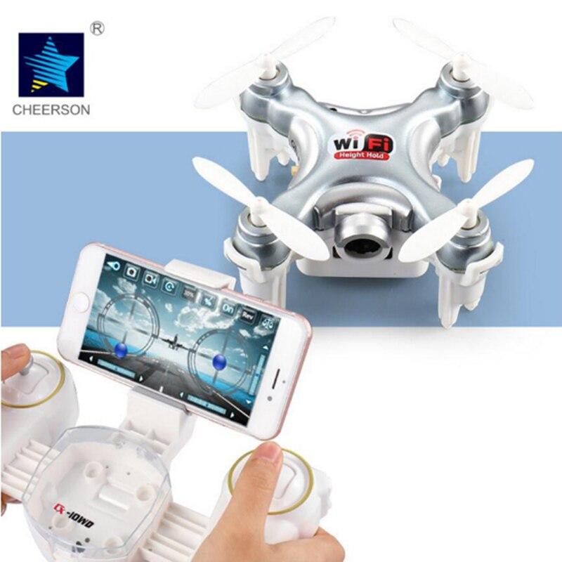 Cheerson CX-10WD CX10WD Mini Drone Aérienne Dron Avec Wifi FPV Caméra peut Téléphone Mode De Contrôle Ensemble Mode Haute RC Quadcopter RC Toys