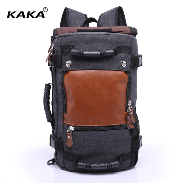 fac66a1c7a86 KAKA Brand European Stylish Men Travel Backpack Male Luggage Shoulder Bag  Laptop Backpacking Functional Versatile Tote Bags