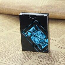 цена на 55pcs/deck waterproof plastic pvc playing cards set pure color black poker card sets classic magic tricks tool props  81303