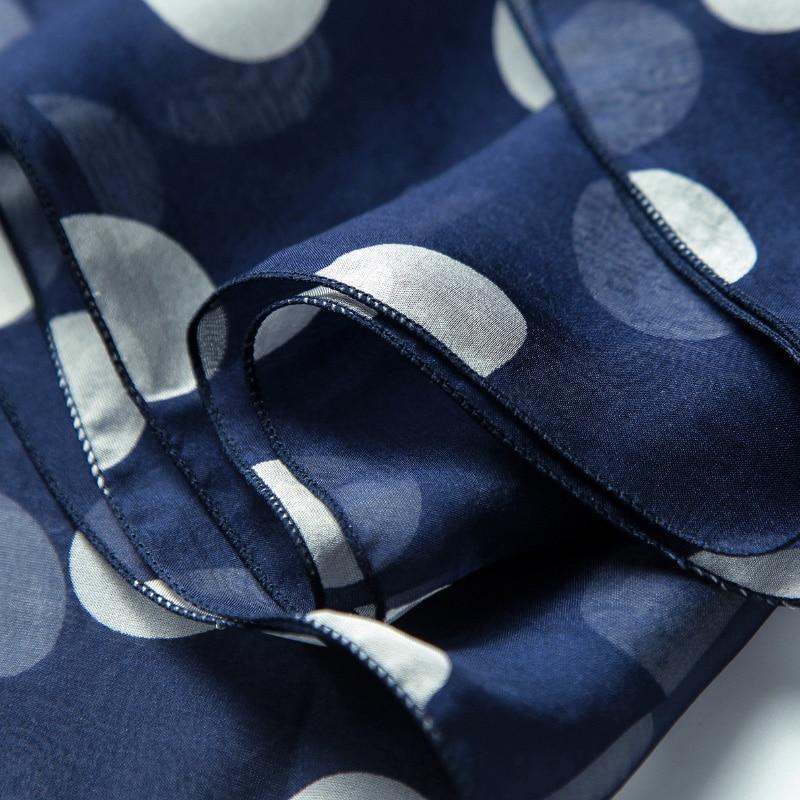 Gaya Musim Panas Berryear Panjang Syal Sutra Wanita Polka Dots Cetak - Aksesori pakaian - Foto 4
