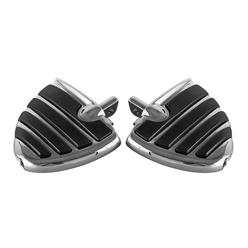 Chrome Male Mount Style Wing Style Foot Rests FootPegs For Harley Touring Models Motorcycle