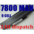 New 9cells 7800mah laptop battery For Asus A32-K72 A32-N71 A72 K72D K72 K72J K72R K72Q N73 K73 X77 A72D X77J X77VN