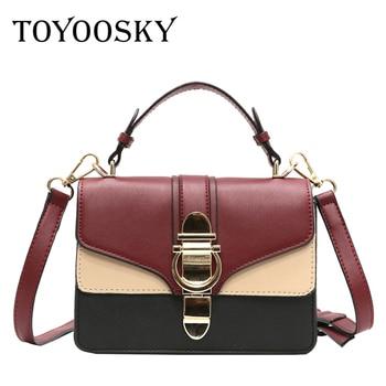 0a9b83f7e75d TOYOOSKY модные женские сумки с панелями Сумки из искусственной кожи сумка  с верхней ручкой сумка через плечо сумка на плечо женская простая ст.