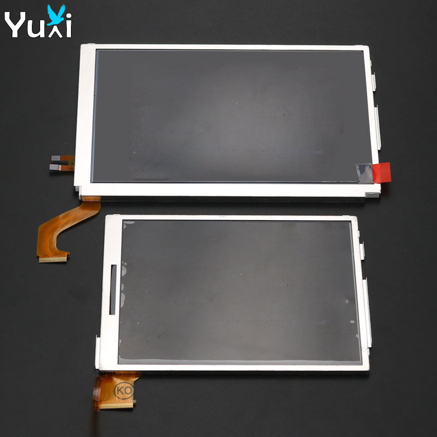 YuXi Top / Bottom LCD Display Screen Upper Lower Replacement For Nintendo 3DS XL LL