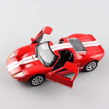 1:36 Scale Ford GT 1 mustang supersport diecast concept coupe auto car model racing vehicle replica toy gift for kid's boy Cheap 1 18 ford mustang gt car diecast car model for gifts collection hobby