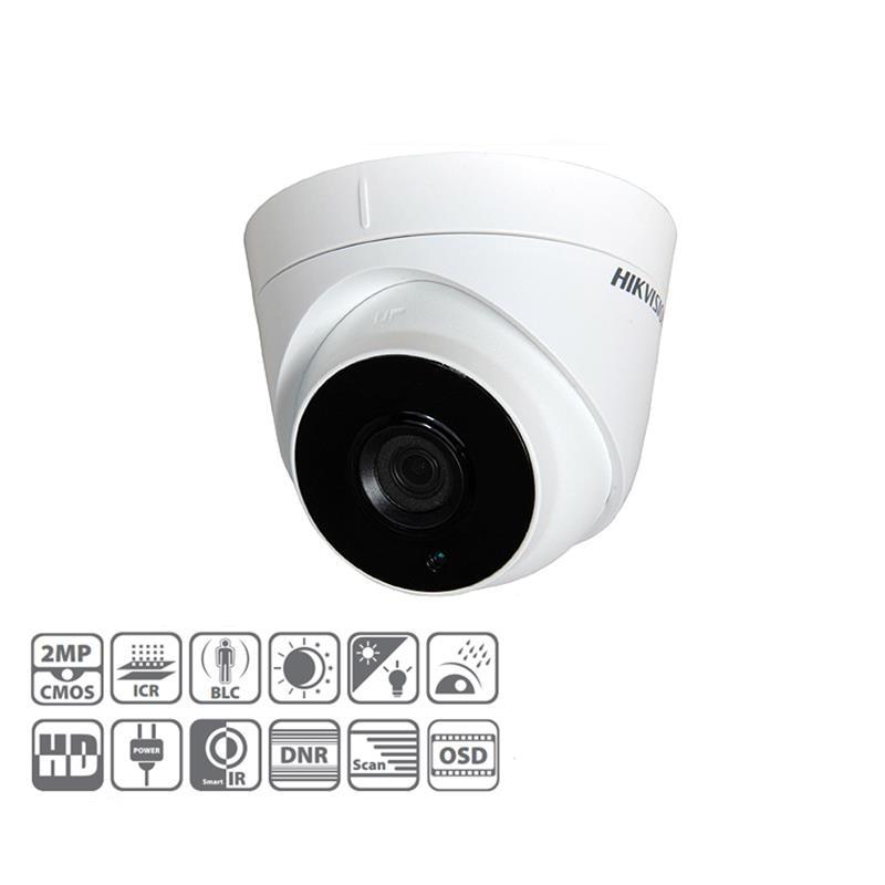 HIKVISION DS-2CE56D0T-IT3 Turbo HD1080p 2MP 40m IR CCTV EXIR Turret Camera hikvision original english version ds 2ce16d1t irp hd1080p ir bullet camera 2mp ip66 weatherproof up the coax cctv camera