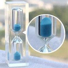 1 x Fashion Mini Sand Clock Hourglass Timer Cute Home Figurines 3 Minutes For Children Bruth teeth Health Kids Gift P15