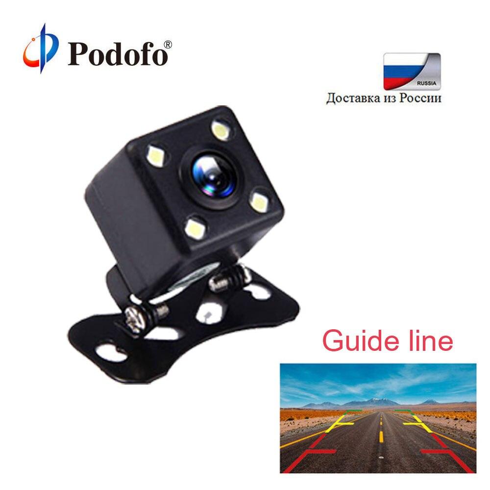 Podofo 4 Led Lampen Reverse Kamera HD Auto Rück Kamera Weiten Blickwinkel Fahrzeug Kamera Reverse Einparkhilfe Backup Kamera