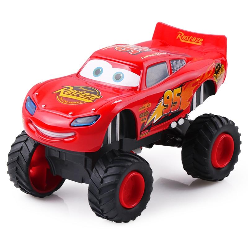 Voitures Disney Pixar 3 flash McQueen Monster tirer en arrière clignotant Jackson Storm moulé sous pression modèle de voiture cadeau de noël pour les enfants