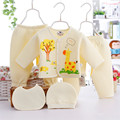 5PCS/Set Newborn Baby Clothing Set Warm Clothes Set for 0-3M Infants Boys Girls Cotton Cartoon Animal Underwear Clothes for Baby