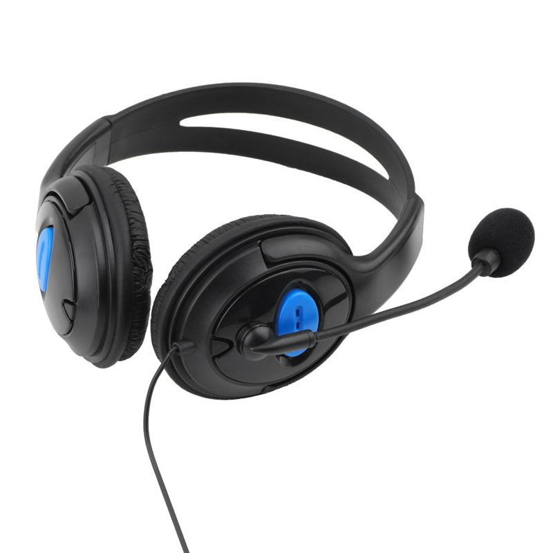 HAOBA 3.5mm Headphone Game Gaming Headphones Headset with Mic Wired for PS4 PlayStation 4 /PC Computer high quality wired headphone for ps4 gaming headset headphone microphone mic chat for playstation 4 ps4 black