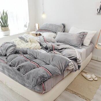 2018 New Winter Fashion Treasure Hair Bedding Set Warm Duvet Cover Queen Bed Sheet King Pillowcases 4pcs Home Textiles