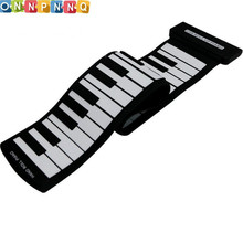 61 Key Flexible Silicon Roll Up Piano Silicon Preliminary Electronic Training Tool Professional Musicial Instrument
