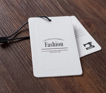 Custom Printing Fashion Design Recycle Paper Swing Hang Jeans Tags for Denim Cloth