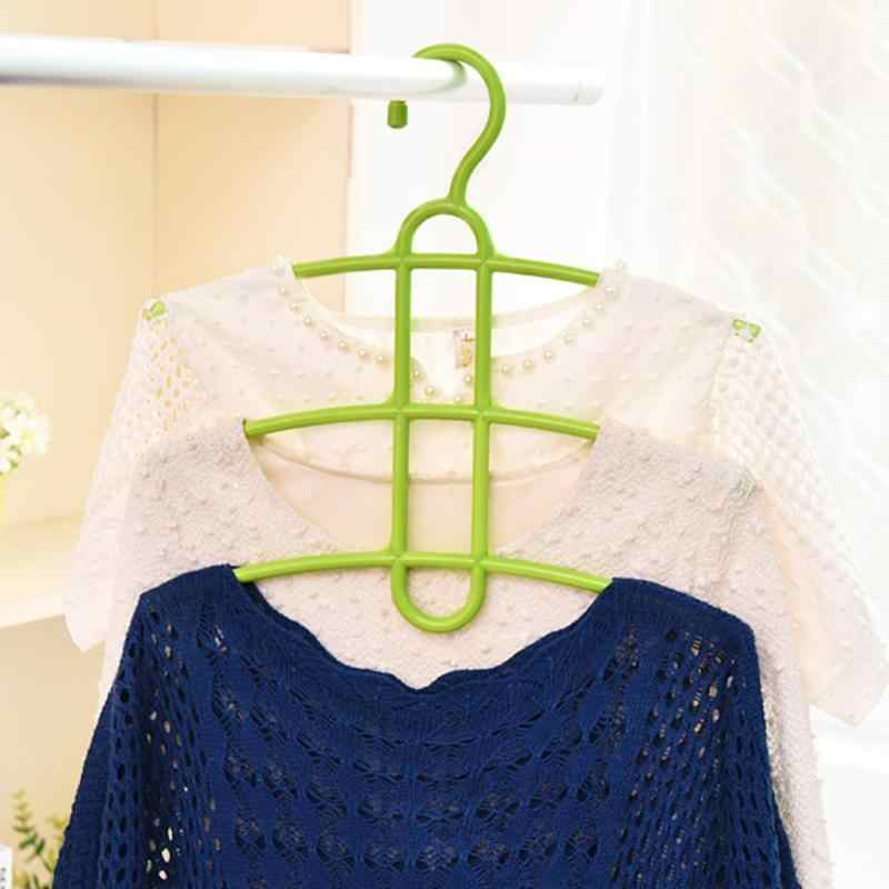 Multi Layers Clothes Hanger Fishbone Type Clothing Towel Storage Rack Closet Wardrobe Space Saver Hanging Rack